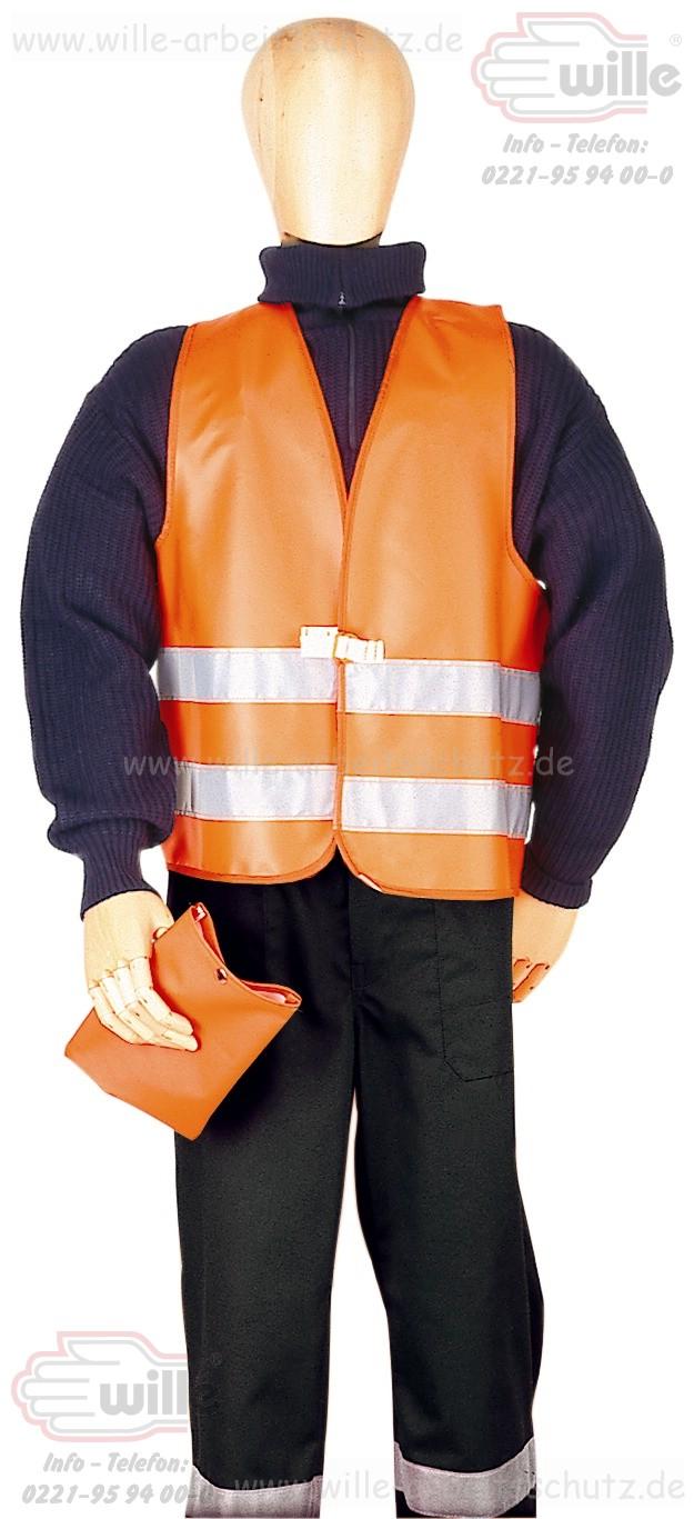 warnschutzwesten gelb oder orange pu warnschutzwesten mit reflexstreifen. Black Bedroom Furniture Sets. Home Design Ideas